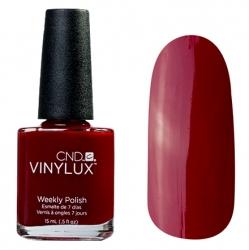 CND Vinylux №111 Decadence - Лак для ногтей 15 мл красное бордо эмалевый, плотный.
