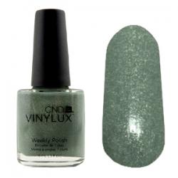 CND Vinylux №186 Wild Moss  - Лак для ногтей 15 мл Графитный с микроблеском (пастельный зеленый)