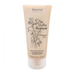 Kapous Pre Treatment - Абсорбирующая грязевая паста для жирной кожи головы 150 мл