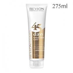 Revlon Professional Revlonissimo Color Care 45 Days Total Color Care Golden Blondes - Шампунь-кондиционер для золотистых блондированных оттенков 275 мл