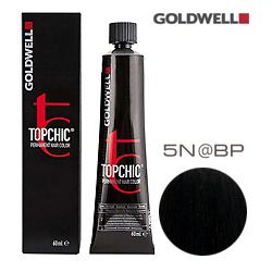 Goldwell Topchic 5N@BP - Стойкая краска для волос Cветло-коричневый с перламутровым сиянием  60 мл