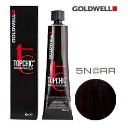 Goldwell Topchic 5N@RR - Стойкая краска для волос Cветло-коричневый с интенсивно-медным сиянием 60 мл