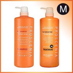 Lebel Proscenia Шампунь для окрашенных волос 1000ml + Lebel Proscenia Treatment M Маска 980ml