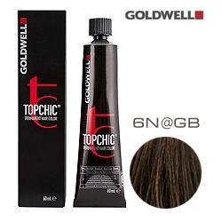 Goldwell Topchic 6N@GB - Стойкая краска для волос Темный блонд с золотисто-бежевым сиянием  60 мл