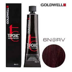 Goldwell Topchic 6N@RV - Стойкая краска для волос Темный блонд с красно-фиолетовым сиянием  60 мл