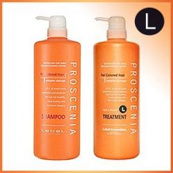 Lebel Proscenia Шампунь для окрашенных волос 1000ml + Lebel Proscenia Treatment L Маска 980ml