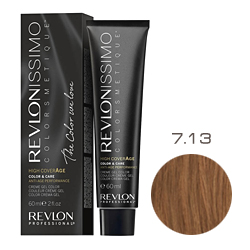 Revlon Professional Revlonissimo Colorsmetique High CoverАge - Крем-краска для волос 7.13 Бежевый блондин 60 мл