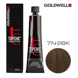 Goldwell Topchic 7N@BK - Стойкая краска для волос Cредний блонд с бежево-медным сиянием 60 мл
