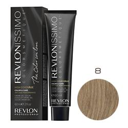 Revlon Professional Revlonissimo Colorsmetique High CoverАge - Крем-краска для волос 8 Светло русый 60 мл