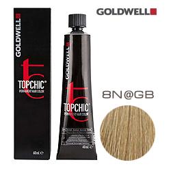 Goldwell Topchic 8N@GB - Стойкая краска для волос Светлый блонд с золотисто-бежевым сиянием 60 мл