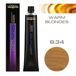 L'Oreal Professionnel Dialight - Краска для волос Диалайт 8.34 Светлый блондин золотисто-медный 50 мл