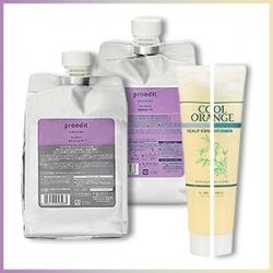 Lebel Proedit - Шампунь для мягких волос 1000 мл + Proedit - Маска для мягких волос 1000 мл + Cool Orange - Очиститель «Холодный Апельсин» 240 гр (на выбор)