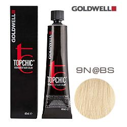 Goldwell Topchic 9N@BS - Стойкая краска для волос Очень светлый блонд с бежево-серебристым сиянием  60 мл