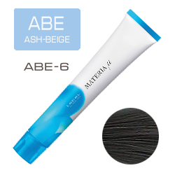 LEBEL Materia µ Layfer ABE6 - Тонирующая краска лайфер, Тёмный блондин пепельно-бежевый 80гр