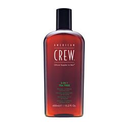 AMERICAN CREW 3-IN-1 TEA TREE - Средство по Уходу за Волосами и Телом на Основе Чайного Дерева 3 в 1, 450 мл