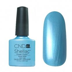 CND Shellac Гель-лак для ногтей Azure Wish 7,3 мл небесно-голубой с микроблеском плотный