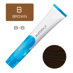 LEBEL Materia µ Layfer B6 - Тонирующая краска лайфер, Тёмный блондин коричневый 80гр