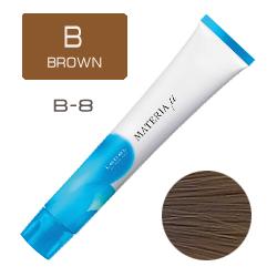 LEBEL Materia µ Layfer B8 - Тонирующая краска лайфер, Светлый блондин коричневый 80гр