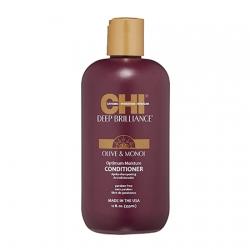 CHI Deep Brilliance Olive&Monoi Optimum Moisture Conditioner - Увлажняющий кондиционер для поврежденных волос 355 мл