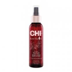 CHI Rose Hip Oil Repair & Shine Leave In Tonic - Несмываемый тоник с маслом шиповника для окрашенных волос 118 мл