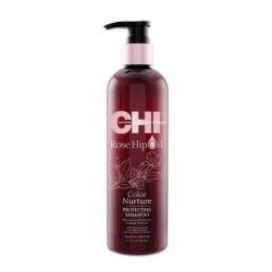 CHI Rose Hip Oil Shampoo - Шампунь с маслом шиповника для окрашенных волос 340 мл