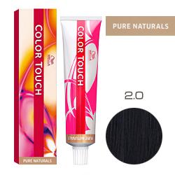 Wella Color Touch Pure Naturals - Оттеночная краска для волос 2/0 Черный 60 мл
