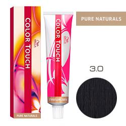 Wella Color Touch Pure Naturals - Оттеночная краска для волос 3/0 Темно-коричневый 60 мл