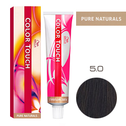 Wella Color Touch Pure Naturals - Оттеночная краска для волос 5/0 Светло-коричневый 60 мл