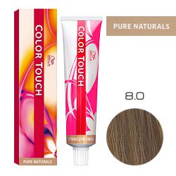 Wella Color Touch Pure Naturals - Оттеночная краска для волос 8/0 Светлый блонд 60 мл