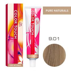 Wella Color Touch Pure Naturals - Оттеночная краска для волос 9/01 Очень светлый блондин песочный 60 мл