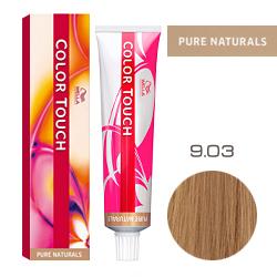Wella Color Touch Pure Naturals - Оттеночная краска для волос 9/03 Лен 60 мл