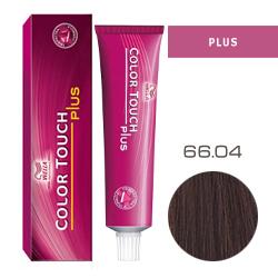 Wella Color Touch Plus - Оттеночная краска для интенсивного тонирования волос 66/04 Коньяк 60 мл