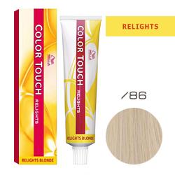 Wella Color Touch Relights Blonde - Оттеночная краска для светлых волос /86 Ледяное шампанское 60 мл