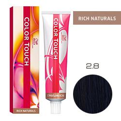 Wella Color Touch Rich Naturals - Оттеночная краска для волос 2/8 Сине-черный 60 мл