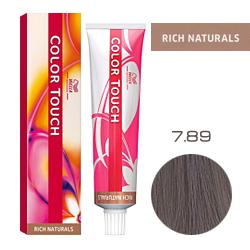Wella Color Touch Rich Naturals - Оттеночная краска для волос 7/89 Серый жемчуг 60 мл