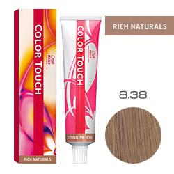 Wella Color Touch Rich Naturals - Оттеночная краска для волос 8/38 Светлый блонд золотой жемчуг 60 мл