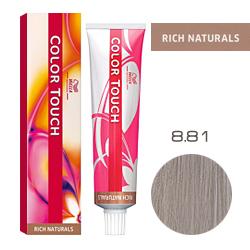 Wella Color Touch Rich Naturals - Оттеночная краска для волос 8/81 Серебряный 60 мл