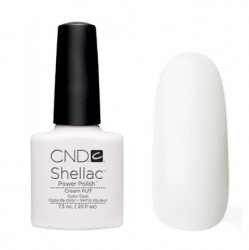 CND Shellac Гель-лак для ногтей Cream Puff 7,3 мл ярко-белая эмаль