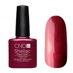 CND Shellac Гель-лак для ногтей Crimson Sash 7,3 мл плотный темно-бордовый с микроблеском