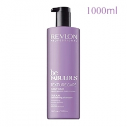 Revlon Professional Be Fabulous Texture Care Curly Hair C.R.E.A.M. Curl Defining Shampoo - Шампунь для вьющихся волос 1000 мл