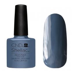 CND Shellac Denim Patch - Гель-лак для ногтей 7,3 мл холодный, припыленный сине-серый, эмалевый