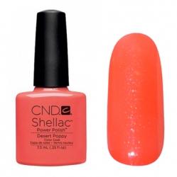 CND Shellac Desert Poppy - Гель-лак для ногтей 7,3 мл оранжевый коралл с микроблеском