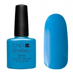 CND Shellac Digi-teal - Гель-лак для ногтей 7,3 мл ярко-голубой, плотный, эмалевый
