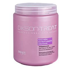 Dikson Restructuring Moisturizing Mask - Восстанавливающая увлажняющая маска для поврежденных волос, 1000 мл