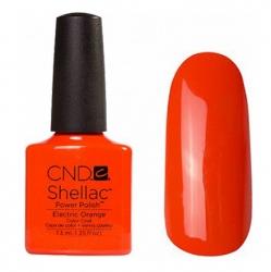 CND Shellac Electric Orange - Гель-лак для ногтей 7,3 мл мандариново-оранжевый, эмаль.