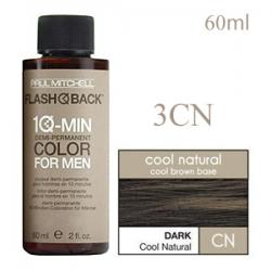 Paul Mitchell Flash Back 3CN Dark Cool Natural - Краска-камуфляж седины для мужчин 60 мл