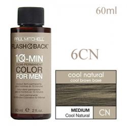 Paul Mitchell Flash Back 6CN Medium Cool Natural - Краска-камуфляж седины для мужчин 60 мл