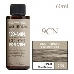 Paul Mitchell Flash Back 9CN Light Cool Natural - Краска-камуфляж седины для мужчин 60 мл