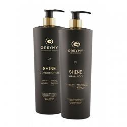 Greymy Shine Shampoo, Shine Conditioner - Комплект ухода (шампунь для блеска, кондиционер для блеска) 2*800 мл
