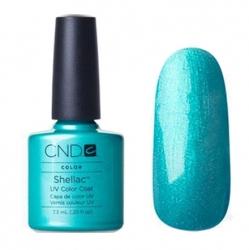 CND Shellac Гель-лак для ногтей Hotski to Tchotchke 7,3 мл бирюзовый, с перламутром.